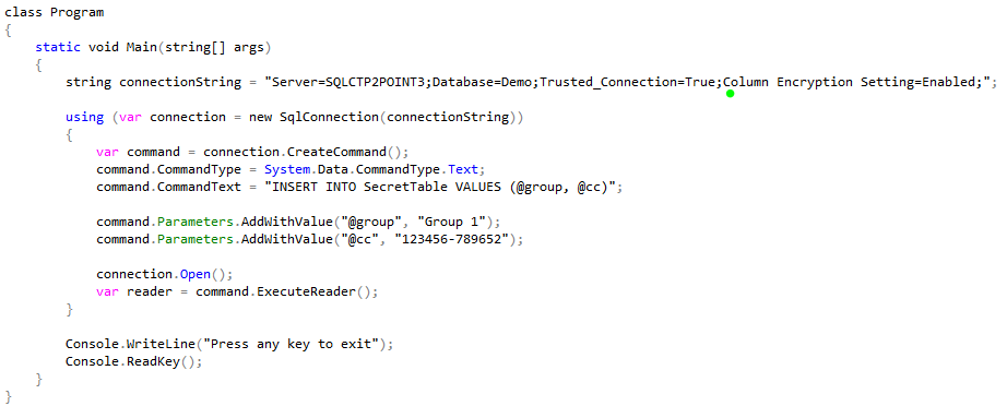 SQL Server 2016 Always Encrypted – Thuru's Blog